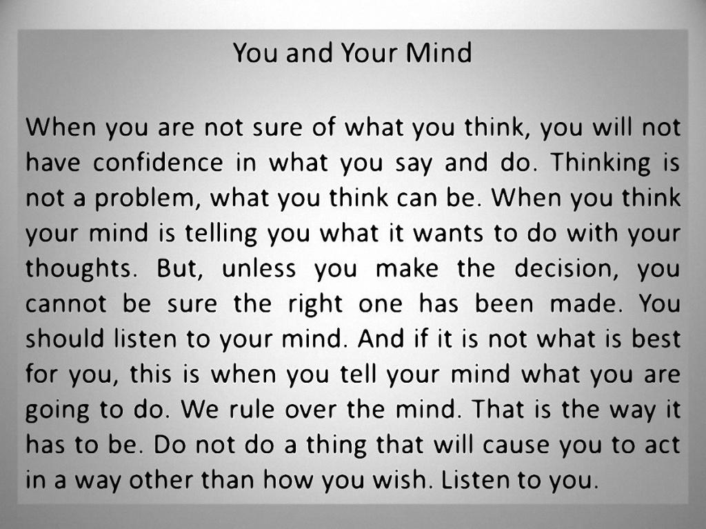 The Mind 1-23-15