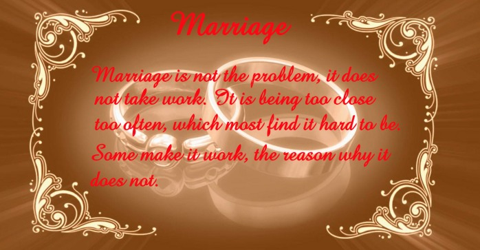 Marriage Should Not Be Work 8-13-15