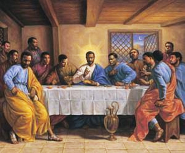 Black Jesus and Disciples