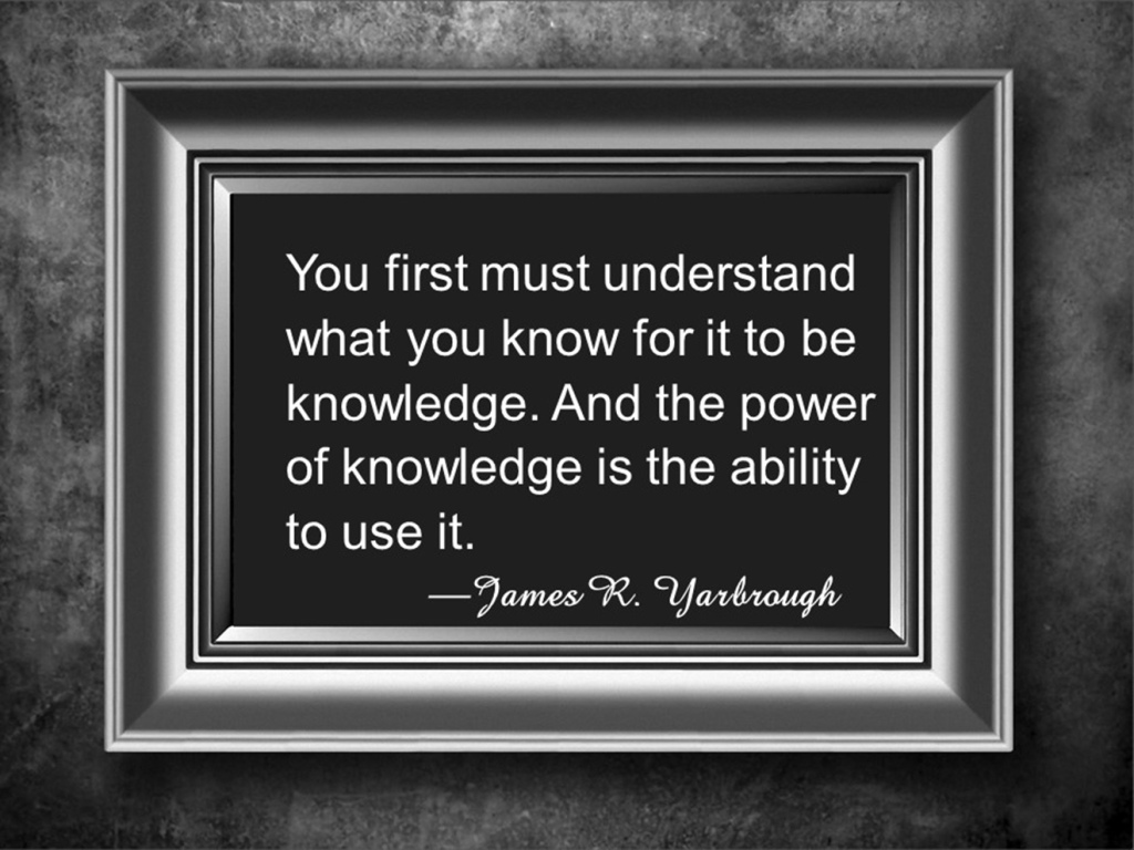 The Power of Knowledge 12-23-15