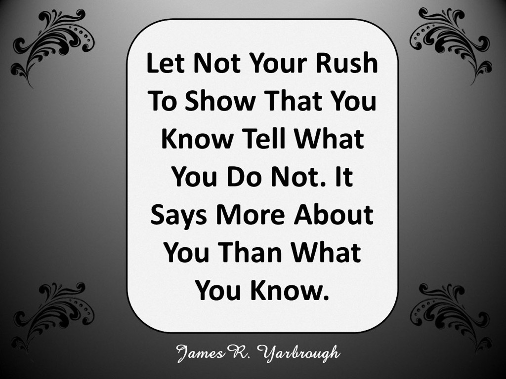 Rush to Show You Know 1-28-16