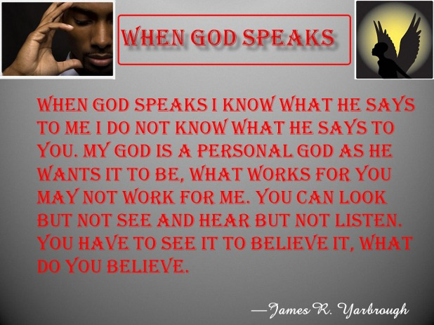 When God Speaks 1-28-16