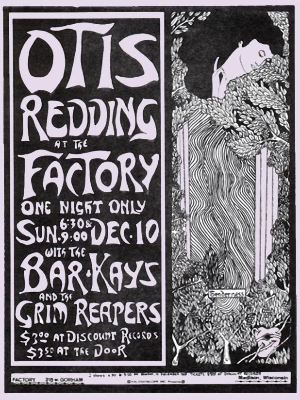 Otis Redding Madison Wisconsin Poster (2-21-16)