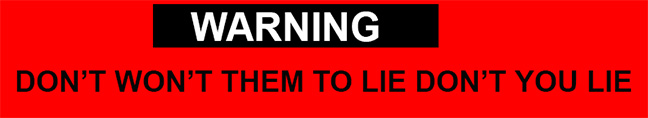 Warning Don't You Lie 2-17-16